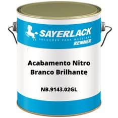Acabamento Nitro Branco Brilhante 3,6lt NB 9143 02 Sayerlack