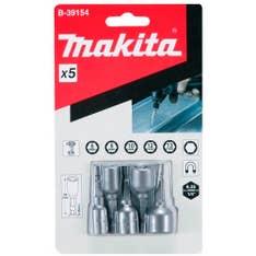 Conjunto de 5 Soquetes Magnéticos 50mm B-39154 Makita