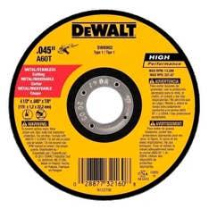 Disco Abrasivo De Corte Fino 4-1/2  1mm DW44618 Dewalt