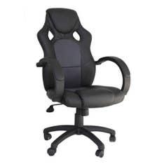 Cadeira Office Racer Preta e Cinza Rivatti