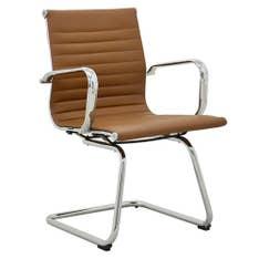 Cadeira Office Sevilha Baixa Marrom Fixa Rivatti