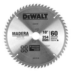 Disco de serra para madeira 10 pol 60 dentes DWA03120 Dewalt
