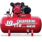 Compressor vermelho 110 litros da Chiaperini